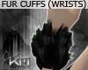 +KM+ Fur Cuffs blk/coal
