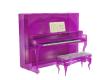 upright piano pink