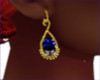 MH1-Blue Gem Earrings