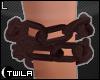 ☾ Rusty Wrist Chain L