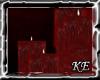 KE~Red Floor Candle Ref