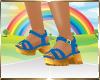 Kids Blue Gold Sandalls