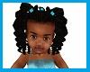 kids turquoise bow plait