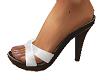 TF* White & brn Sandals