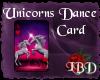 Unicorns Dance Card