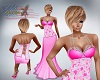 Katz~ Pink Diamond Gown
