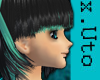 x.Uto| Black-Teal RIYOKO