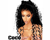 Blk Coco Curly dbl ptail