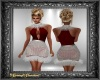 Red & Silv Diamond Dress