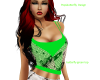 butterfly green top