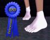 White socks small feet