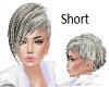 Grey White Short Bob