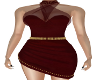 Aubrey Burgundy Dress