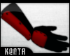 (K) Ninja Gloves : Red