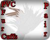 KPR::WhtPvcFurCuffs