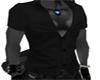 Male Black Silk Shirt