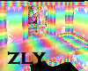 rainbow candy room