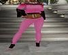 pink n black heels