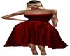 crimson long dress