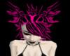 Pink-Black Angel Hair