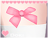 Pink Thigh Bows