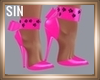 PVC PINK WILD KITTY SHOE