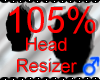 *M* Head Resizer 105%