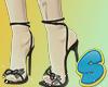 Blk. Ribbon Heels