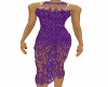 Purple sexy lace dress