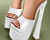 🤍Ella White Platforms
