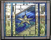 Stained Glass Blue Star