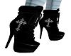 `Black cross boots