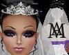 *Glam wedding Veil+Tiara