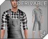 ~AK~ Cropped Overalls