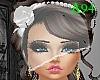 Face veil bride