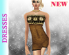 Gold  Knitted Minidress