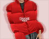 puffy coat red