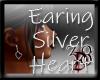 Silevr Heart2 Earing