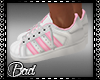 Pink White Sneakers
