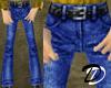 Belted Jeans (dark blue)