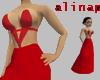 *A* Red Long Dress