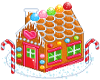 gingerbread house pixel