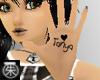 }T{ Tanya hand tattoo