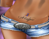 Blue Belly Ring