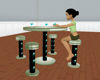 bleus jungle bar table