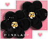 <P>Earrings I Black