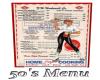 50's menu
