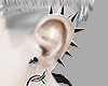 spiked ears.
