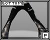 *P Zipper Pants Gray