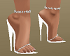 White Shoes w Anklets